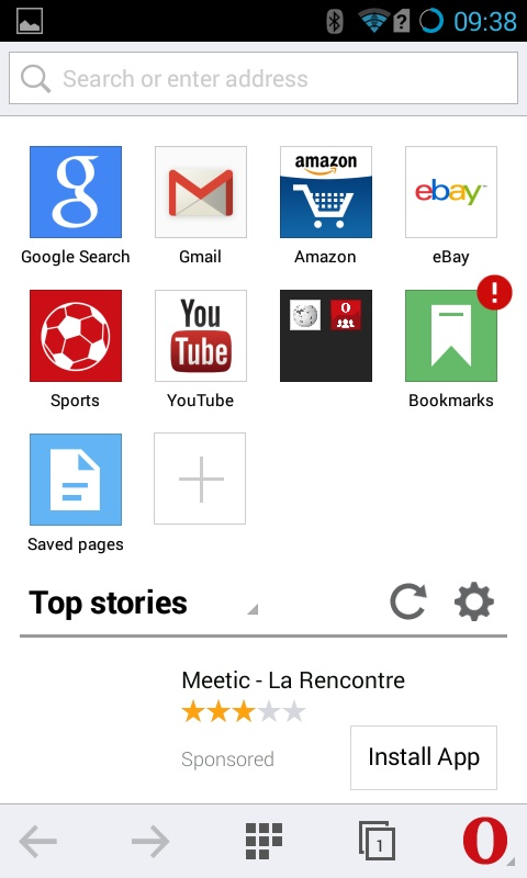 download Opera Mini 58 for android free